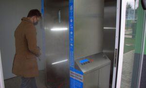 Kabina do dezynfekcji przed wejściem na ZOL